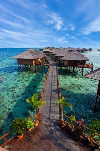 Floating resort at Borneo Sabah, Malaysia