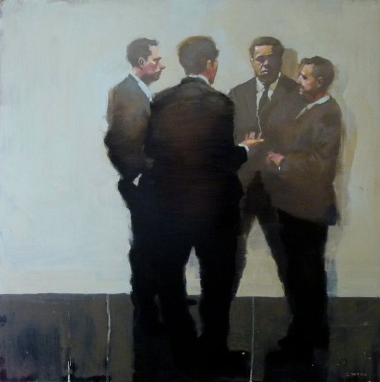 'Four Different Perspectives' by Michael Carson. Oil on panel. #art #painting