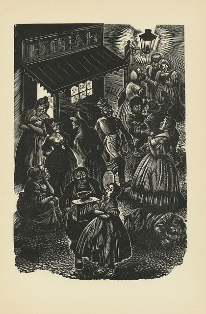 Beautiful woodcuts by Fritz Eichenberg for Crime & Punishment.
