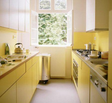 Very Small Yellow Kitchen Interior Design Ideas - Kitchen