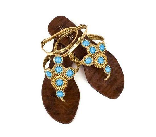 something blue sandals