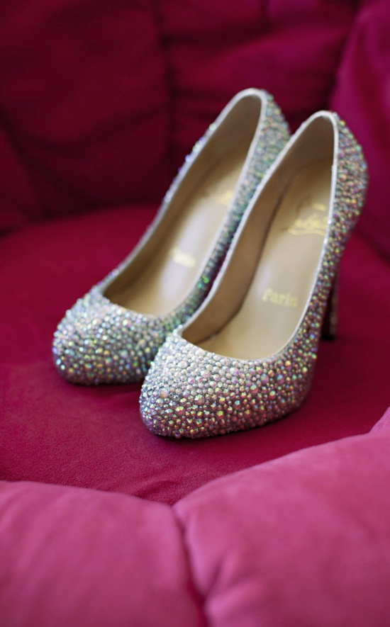 Bedazzled Louboutins. We love. Photography by liahealy.com, Shoes by christianloubouti...