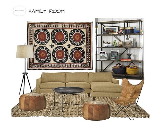 I love this mood board from Amber Interior Design