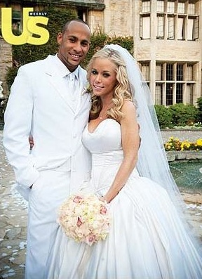 Kendra Wilkinson and Hank Baskett let Us publish a picture of their wedding in June 2009.