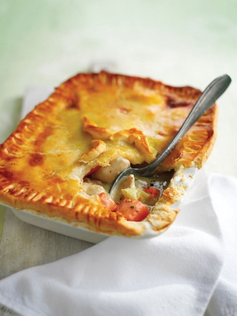 Chicken and Vegetable Pie! Mmmm to flaky crusts!