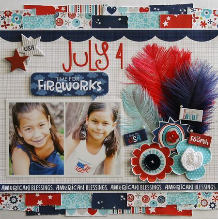 Bella Blvd: June's Monthly Layout with a downloadable project sheet!