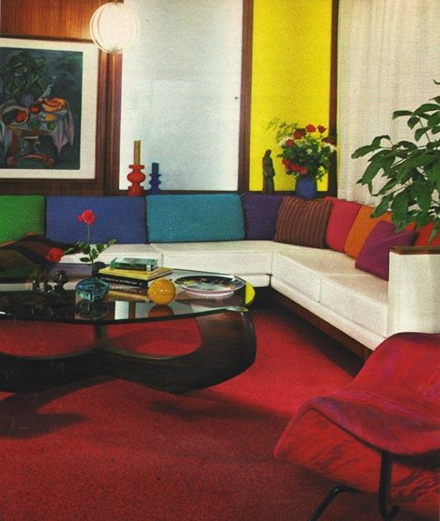 Colorful Homes (superseventies: 1970 living room design from...)