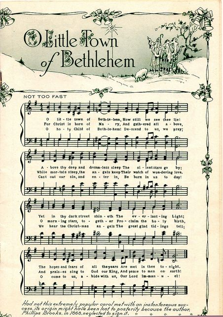 vintage christmas music..this would be cool to frame at Christmas