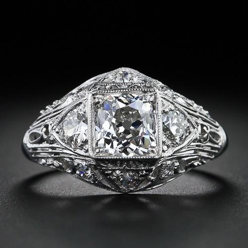 1.02 Carat Antique Diamond Engagement Ring