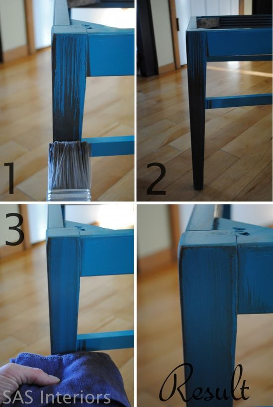 Simple Tutorial on distressing and glazing furniture!