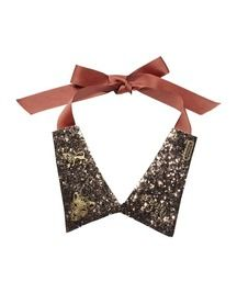 Glitter Collar Necklace With Pack