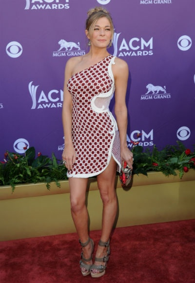 LeAnn Rimes on the red carpet at the 2012 #ACM awards via Zap2it.com.