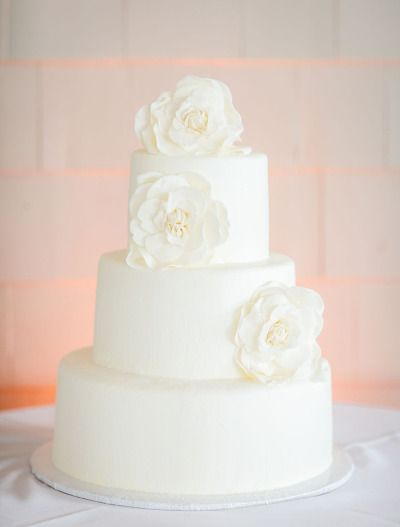 all white #wedding #cake Photography by beach-productions...  Read more - www.stylemepretty...