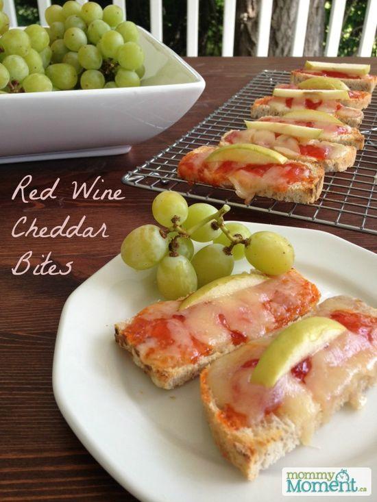 Red Wine Cheddar Bites