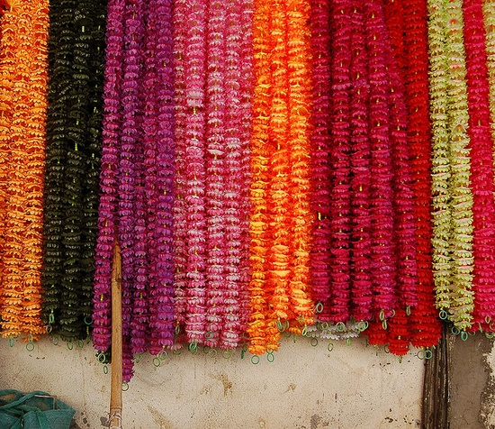 Strung flowers in India