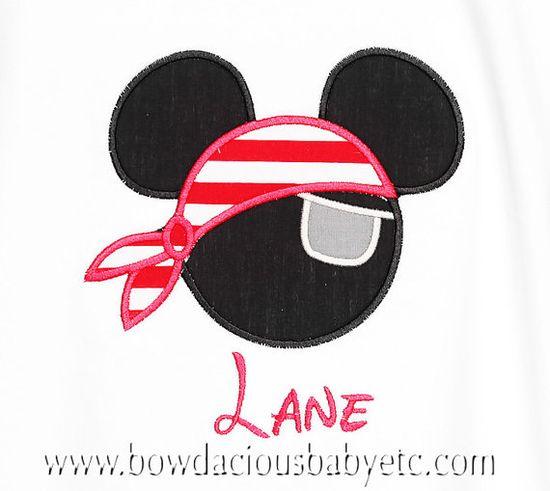 Pirate Mickey - possible cake design