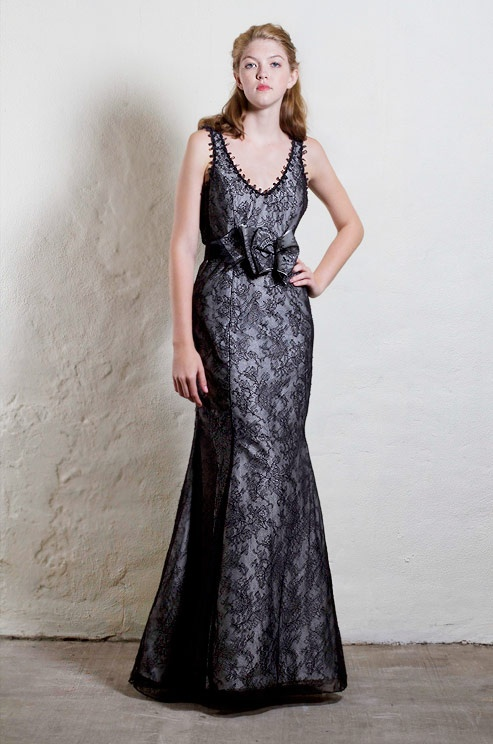A black #wedding dress from Tulle, Spring 2013