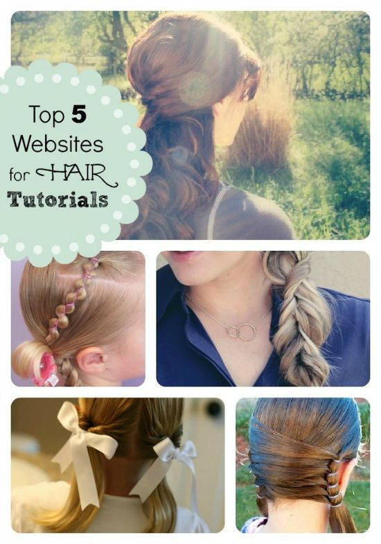 Top 5 Websites for Hair Tutorials from SomewhatSimple.com #hair