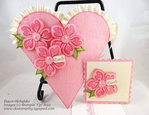 Petal Cone Heart Pouch & card ~ Dawn Olchefske