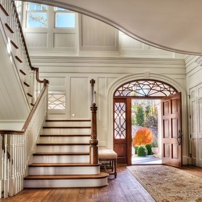 Grand staircase and entrance foyer #floor interior design #floor design