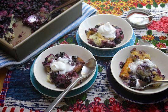 blueberry pudding cake.