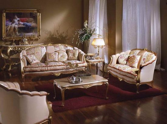 Idea Living Room Design with royal design
