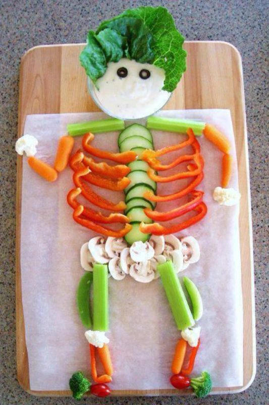Halloween party - veggie skeleton Thought you might like this @Amaryah Daniels Daniels Curnutt Maiga