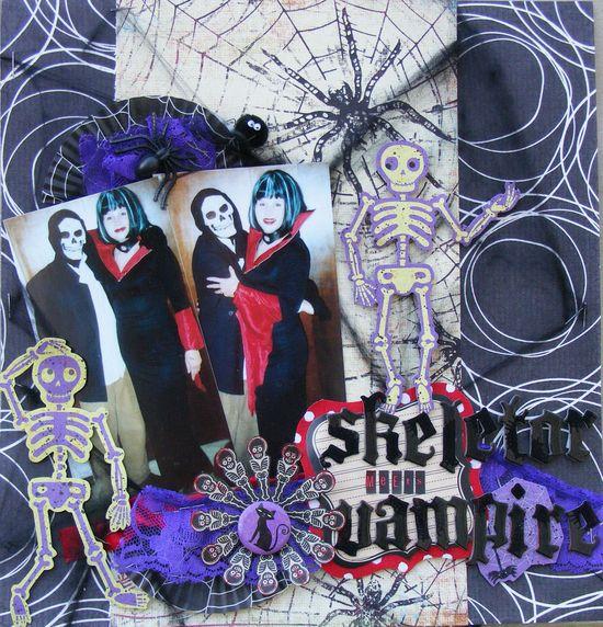 Skeletor Meets Vampire - Scrapbook.com