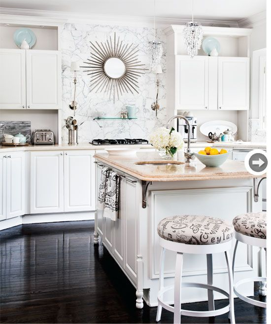 KITCHEN: White.