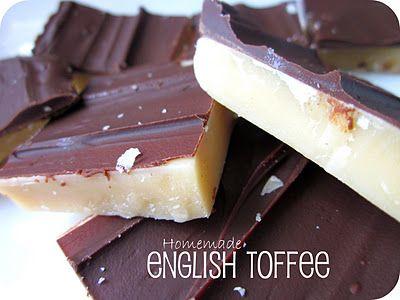 Homemade English Toffee #Recipe #Dessert