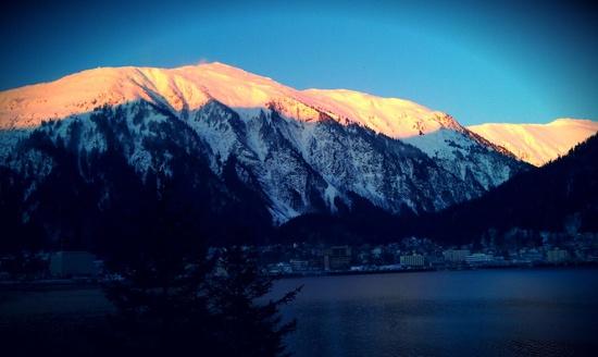 Scenic view of Mt. Juneau, outside Alaska's capital city