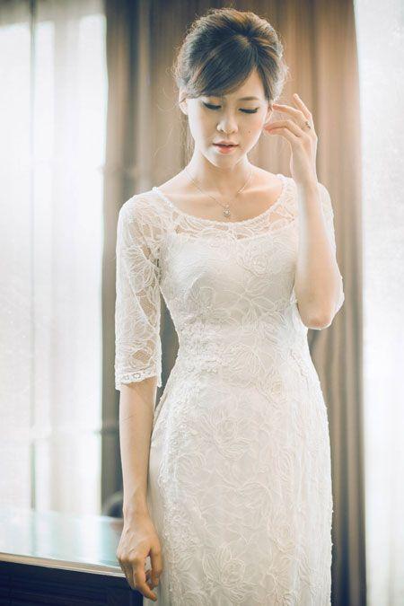 Western style #aodai for wedding