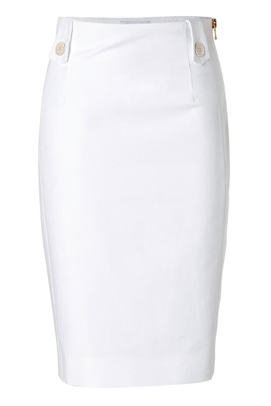 MOSCHINO White Cotton Pencil Skirt