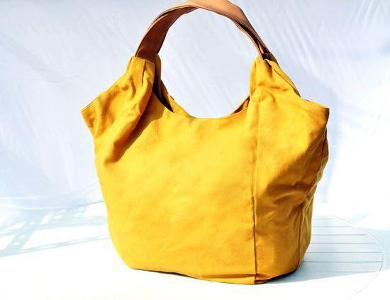 Yellow Mellow Large Handbag