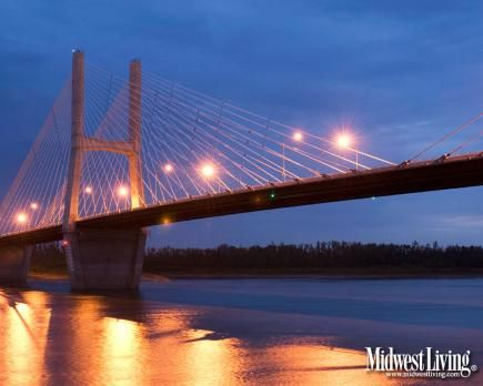 Emerson Memorial Bridge at Cape Girardeau. More photos in our Missouri gallery: www.midwestliving...