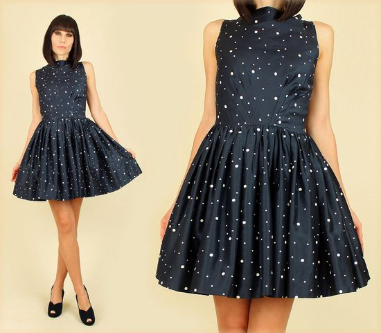 A truly stellar vintage find: a '50s-era galaxy print party dress.
