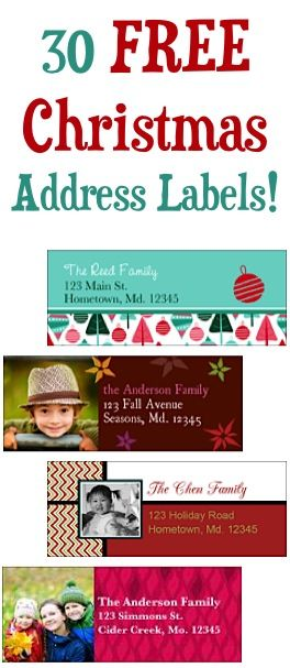 30 FREE Christmas Address Labels! {just pay s/h}