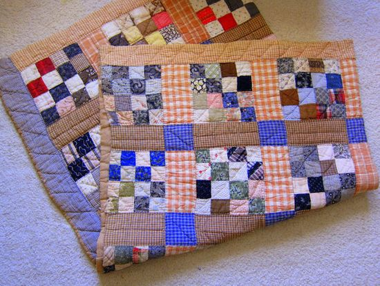 Primitive Country Farmhouse Vintage Handmade Quilt by gremlina, Etsy