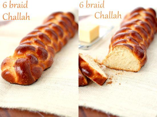6 braid Challah bread recipe from Roxanashomebaking...