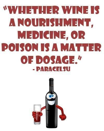 Wine is a nourishment