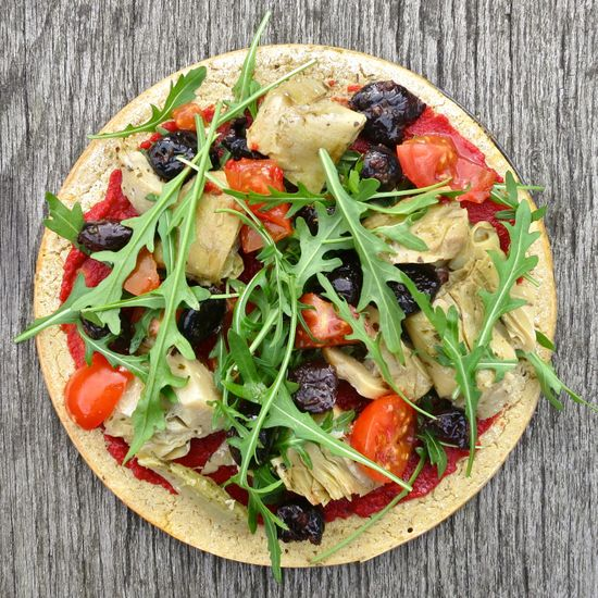 Vegan quinoa pizza crust: gluten free, dairyfree