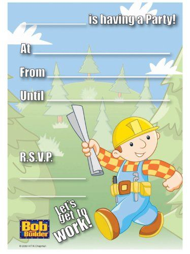 Bob the Builder Invitations Party Accessory for only $4.49 You save: $0.61 (12%)