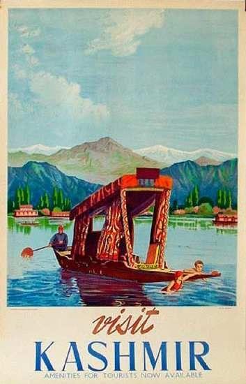 Visit Kashmir - Vintage Travel Poster #india