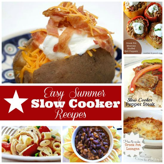 Easy Summer Crock Pot recipes. Ditch the heat and try some of the best fool-proof recipes