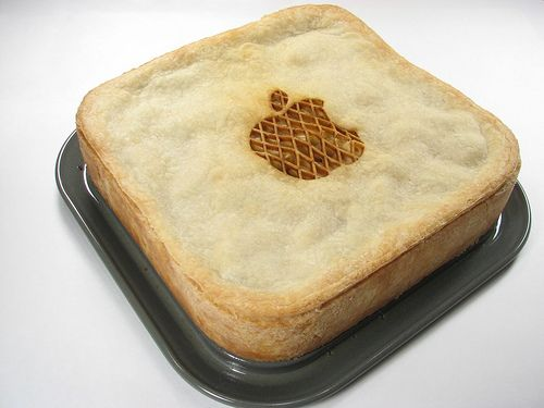 This had to have been made just for you Patty:)  An Apple, Apple Pie, for the Mac in me