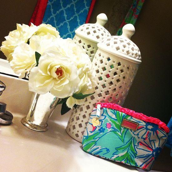 My Guest Bathroom #lillypulitzer #southern #bathroom #decor #preppy #julep #prep Web Instagram User » Followgram