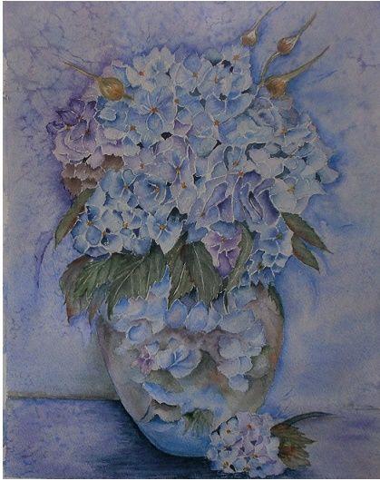 le vase hortensia -a