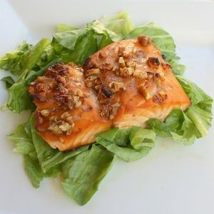 honey and pecan-glazed salmon *weight watchers recipe!* by josie