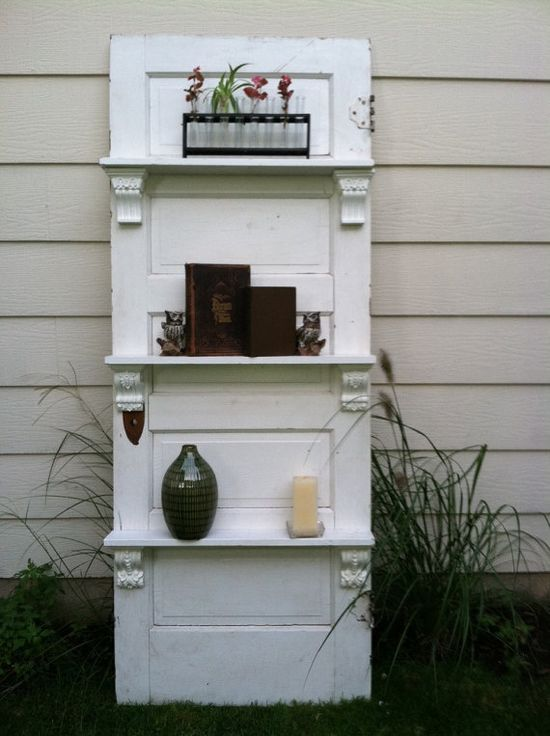 Repurposed Shelving using an old door