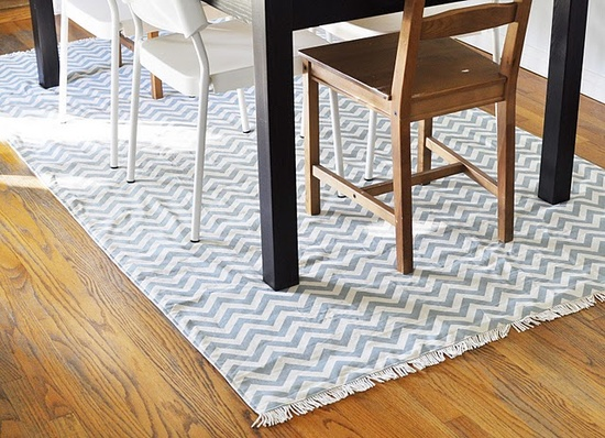DIY chevron rug! #rug #decor #DIY